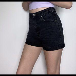 H&M Mom Fit Denim Shorts